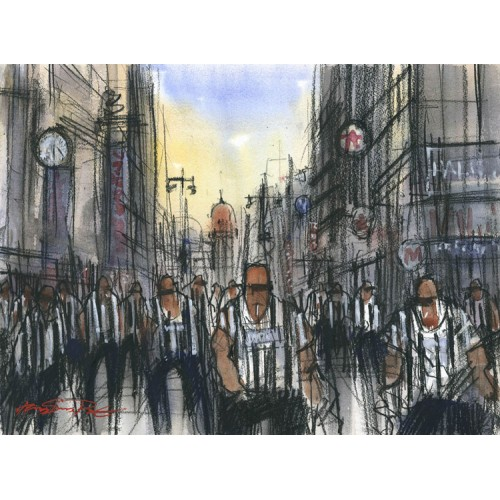 Magpies on Northumberland Street