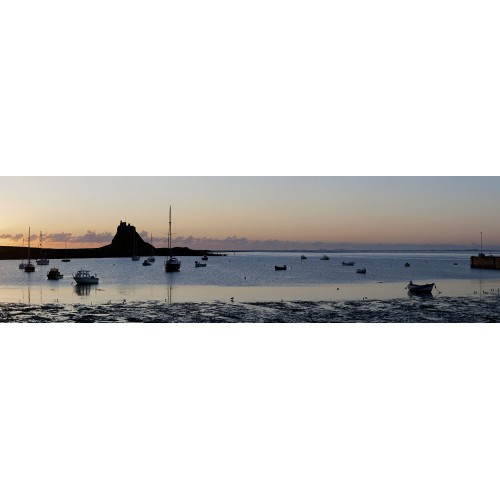 Lindisfarne Castle and Harbour at Dawn